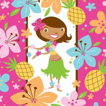 """Happy Birthday /""""Pink Hula Party/"""" Hawaiiparty Buchstaben"""