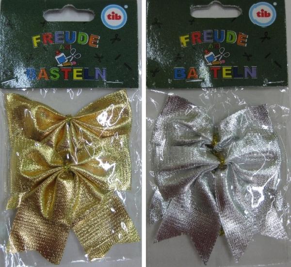 Deko Schleifen 2 St Ck Paket Farbe Gold Oder Silber
