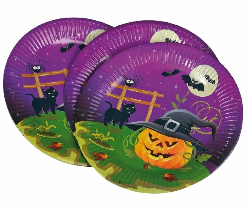 Pappteller halloween durchmesser ca 23 cm 8 st ck for Kindergeburtstag pappteller