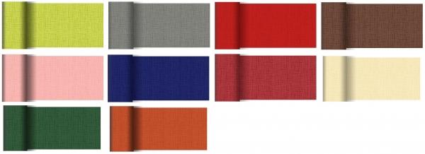 Duni Dunicel Tischläufer Linnea 20 m x 15 cm Hochzeit rot
