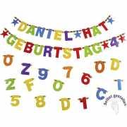 Girlande Mit Buchstaben Und Zahlen Zum Selbst Gestalten 84 Teilig Bestehend Aus A Z 0 9 Sternen Partybedarf Und Kostüme Online Shop